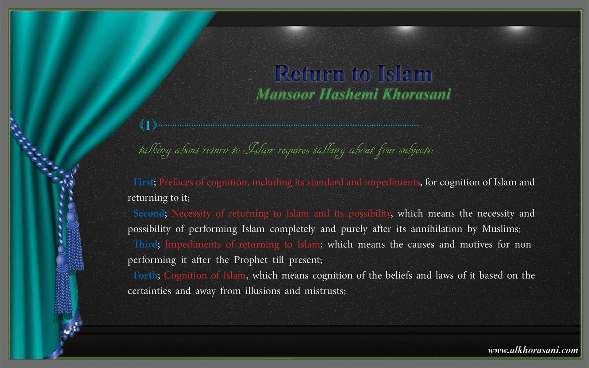 Foreword; Return to Islam