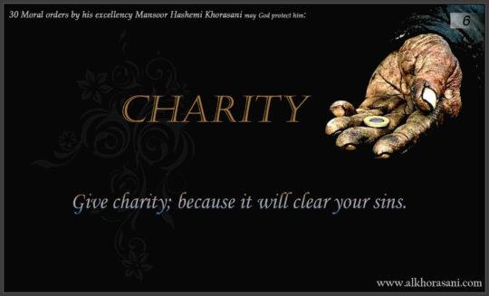 Charity in Mansoor's word