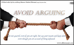 Avoid arguing in Mansoor's word