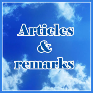 Articles and remarks