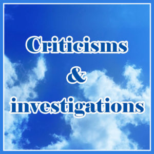 Criticisms and investigations