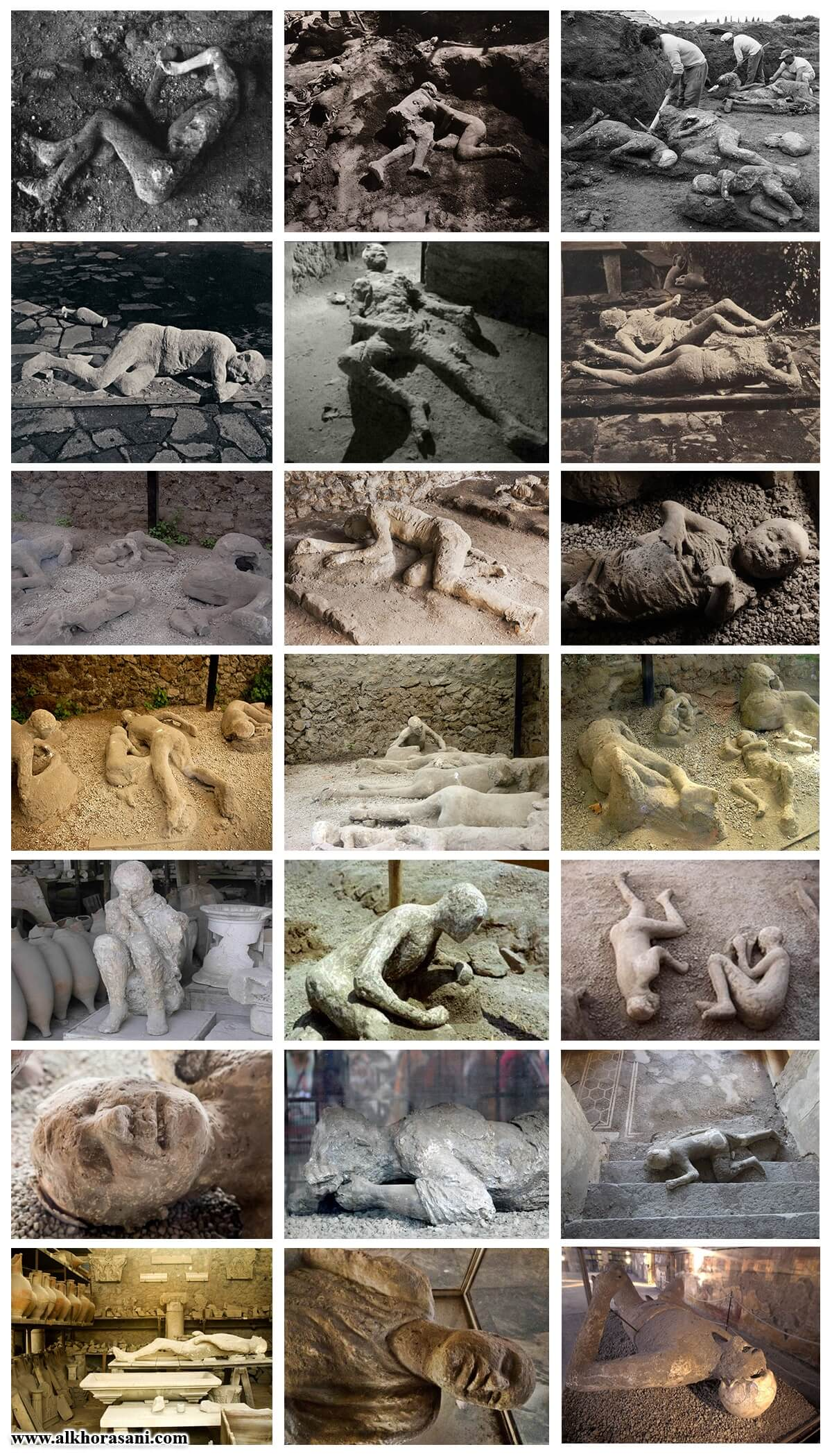 اجساد اهل پمپئی